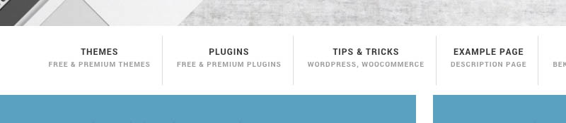 Menu item omschrijving WordPress